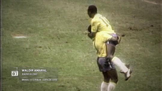 Redação AM: Jorge Curi narra o gol de Pelé contra a Itália na final de 1970