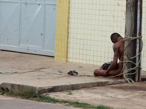 Cledenilson da Silva, 29, foi despido, amarrado e linchado em São Luís (Foto: Biné Morais / O Estado)