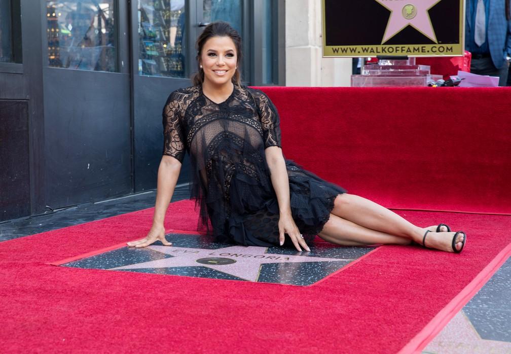 -  Eva Longoria recebe estrela na Calçada da Fama de Hollywood  Foto: REUTERS/Monica Almeida