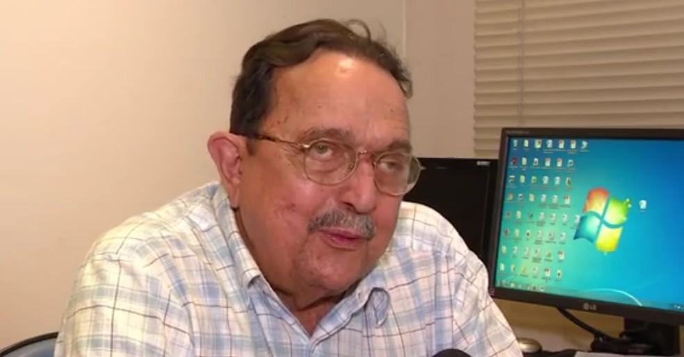 Carlos Araújo está internado em Porto Alegre (Foto: Reprodução/RBS TV)