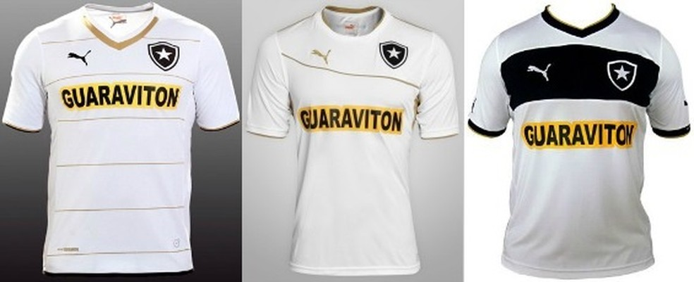 ... Últimas camisas brancas do clube de 2014 (esquerda) f9ede671a9492