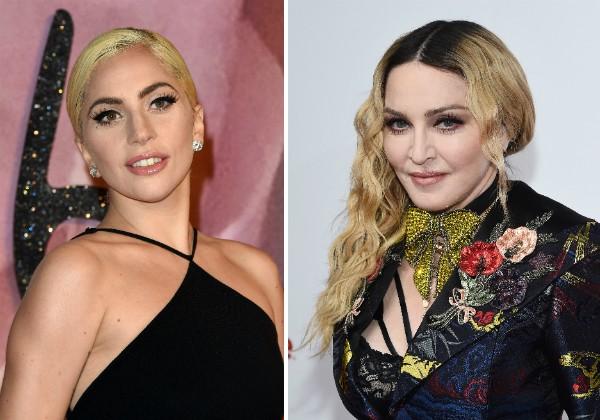 As cantoras Lady Gaga e Madonna (Foto: Getty Images)