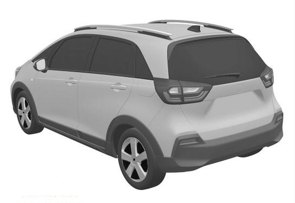Novo Honda Fit — Foto: Reprodução/INPI