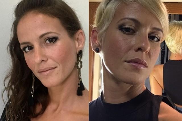 Fernanda de Freitas antes e depois da mudança de visual (Foto: Reprodução / Instagram)