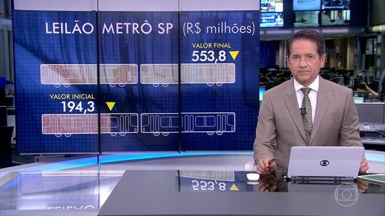 Linhas de metrô de SP são leiloadas por R$ 553,8 milhões