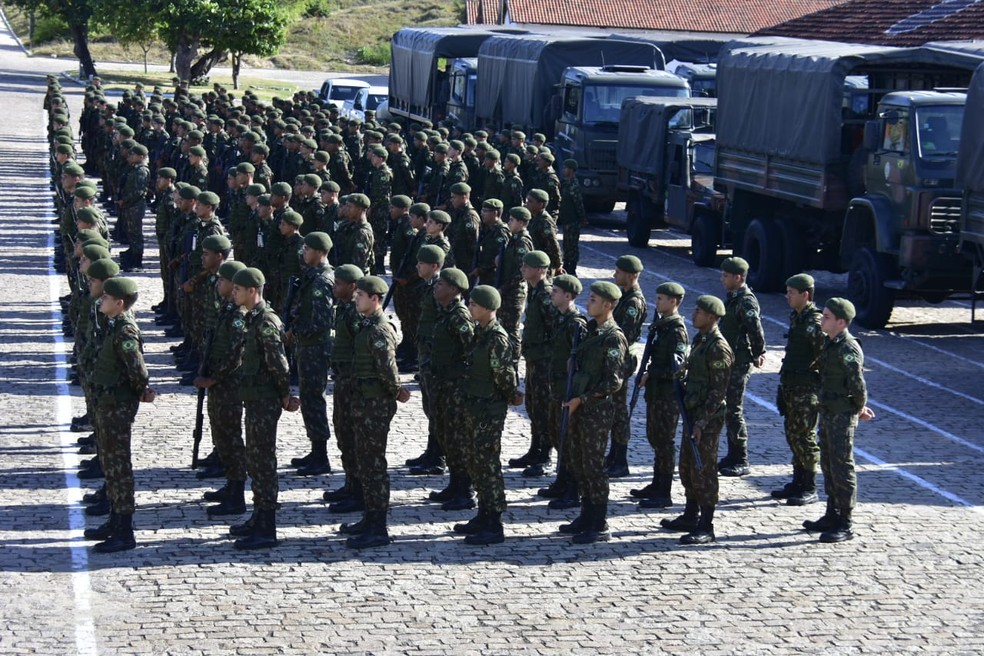 Tropas das Forças Armadas enviadas para o interior do RN para segurança das eleições de 2018 (Arquivo) — Foto: Vitorino Júnior