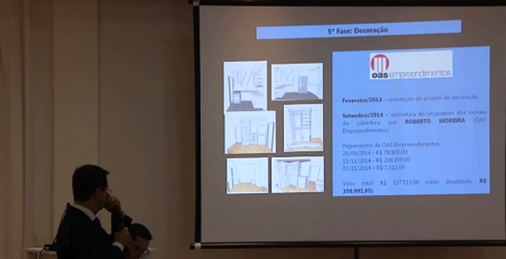 Procuradores seguem explicando o caso do apartamento no Guarujá.