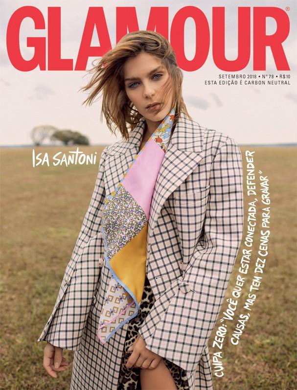 Isabella Santoni na capa da Glamour de setembro (Foto: Ivan Erik / Arquivo Glamour)
