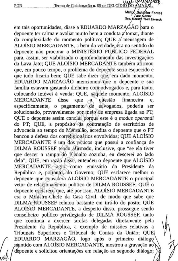 Termo de colaboração assinado por Delcídio pg. 3 620px (Foto: Reprodução)