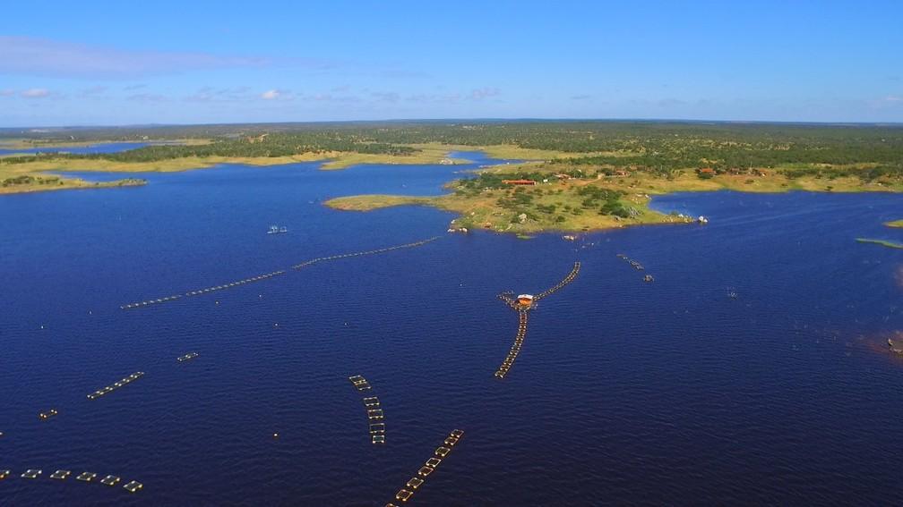 Um dos pontos turísticos de Upanema é a Barragem de Umari, a terceira do Rio Grande do Norte em volume de água â?? Foto: Inter TV Cabugi/Reprodução