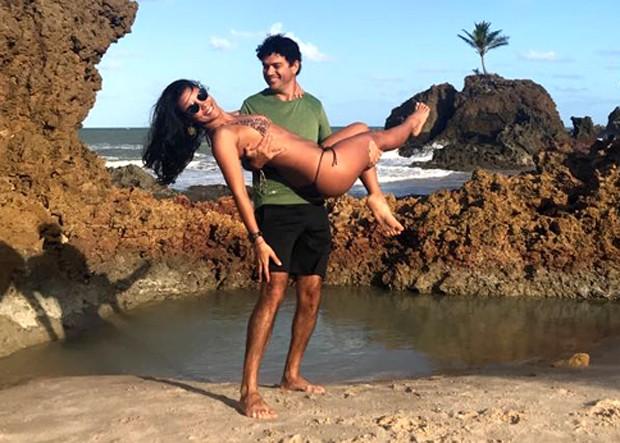 Jorge Vercillo e a namorada, Martha Suarez (Foto: AF Assessoria/ Divulgação)