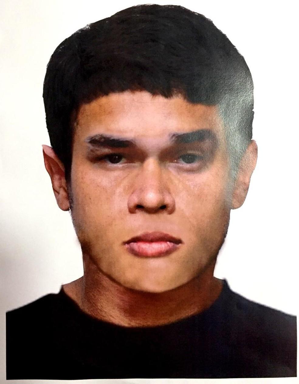 Polícia fez retrato falado de homem suspeito de agredir senhora de 51 anos (Foto: Polícia Civil de MT/Divulgação)