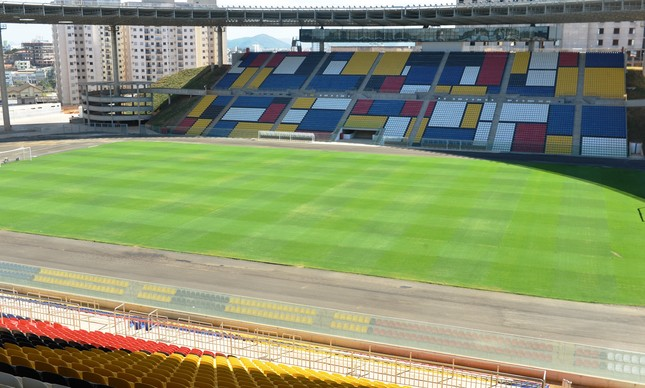 O estádio Kléber Andrade deve receber a final da Taça Guanabara