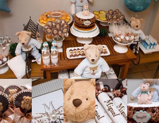 Decoração de uma festa na maternidade (Foto: Julubeca)