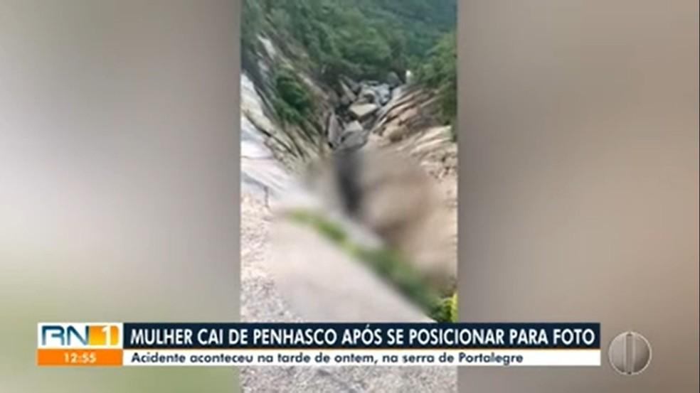 Imagem mostra o local onde corpo foi encontrado — Foto: Reprodução/Inter TV Cabugi