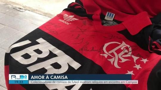Colecionadores de camisas de futebol mostram relíquias em Campos