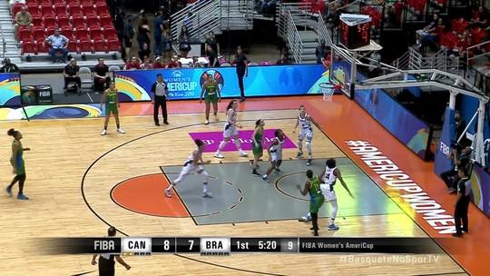 Clarissa brilha com mais uma cesta e Brasil vira para 9 x 8
