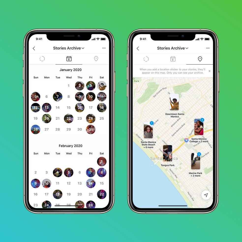 Instagram libera função de mapa de stories, com local e calendário das histórias compartilhadas na rede — Foto: Divulgação/Instagram