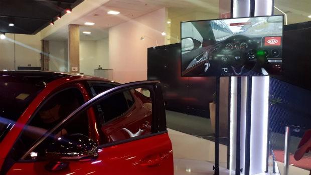 Simulador Kia Stinger GT (Foto: Maria Clara Dias/ Autoesporte)