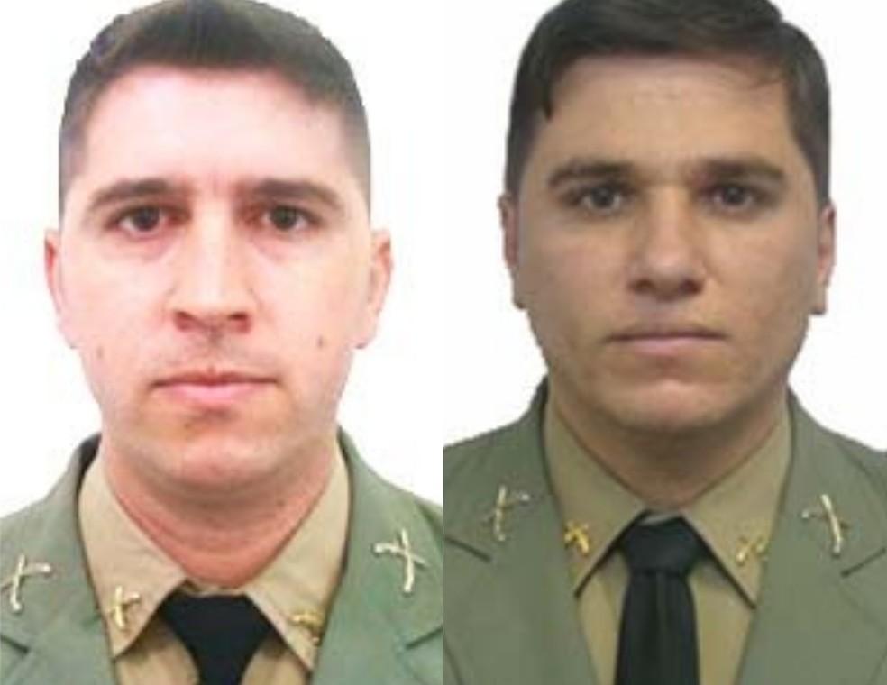 Marcelo de Fraga Feijó e Rodrigo da Silva Seixas foram mortos em confronto — Foto: Divulgação/BM