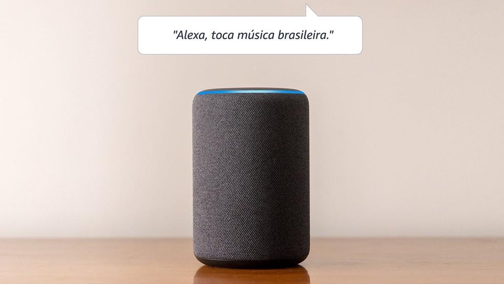 Echo tem promessa de som com graves reforçados sem estragar os agudos e vocais  — Foto: Divulgação/Amazon