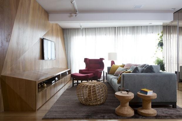 Painel para TV: 8 jeitos de inserir a televisão na decoração (Foto: Reprodução/Divulgação)