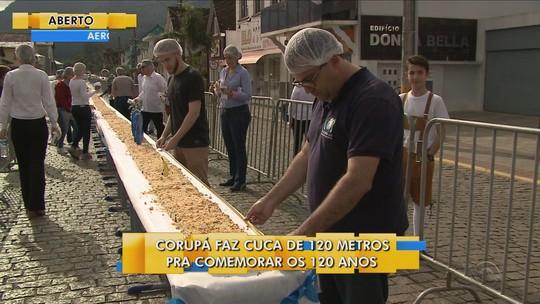 Com 120 metros, cuca de Corupá bate recorde e é eleita a maior do Brasil