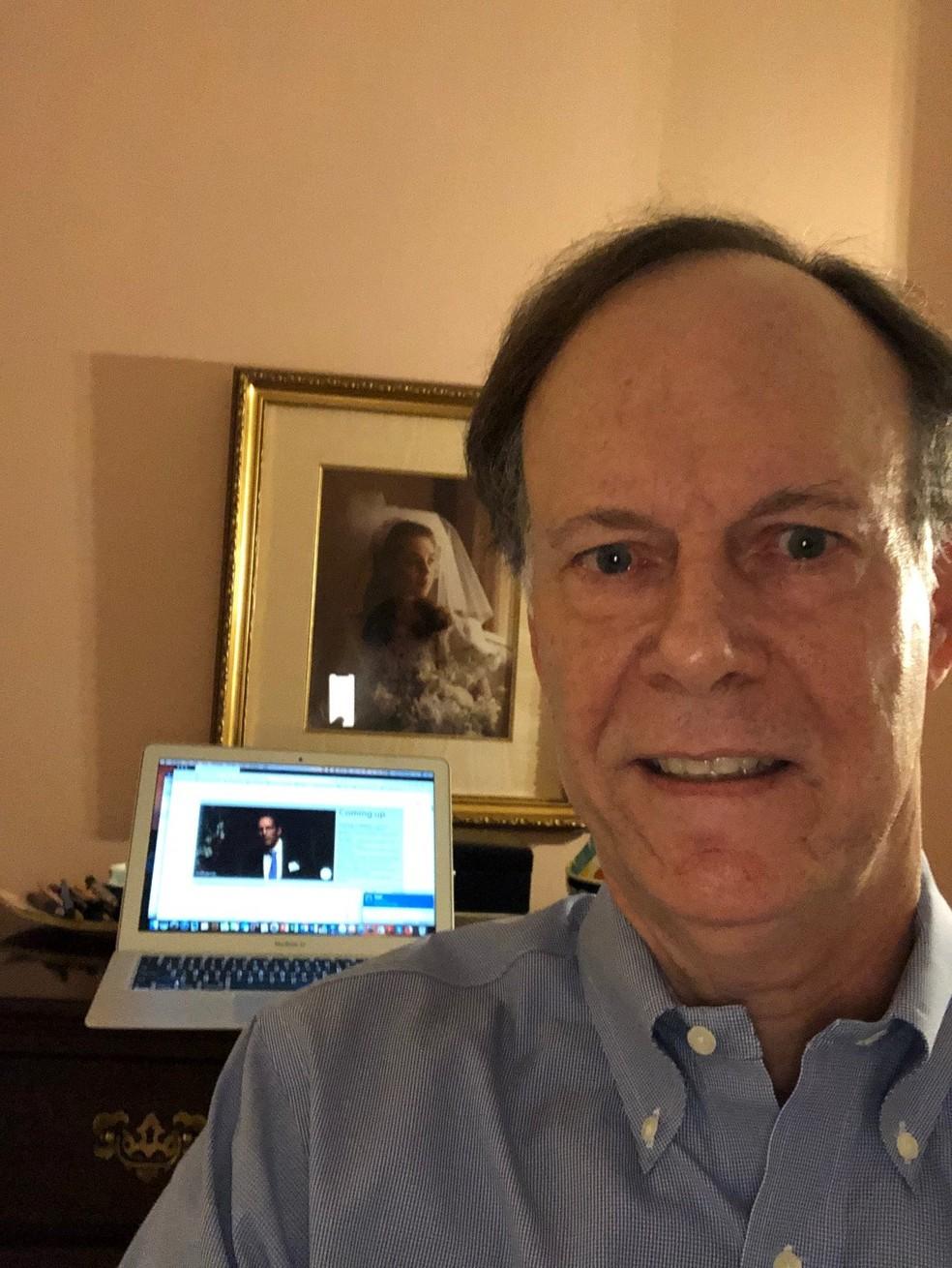 O cientista William Kaelin, um dos vencedores do prêmio Nobel de Medicina deste ano. — Foto: Reprodução/Twitter Prêmio Nobel