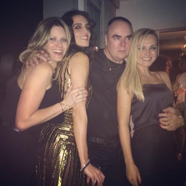 Didi Wagner, Cassia Avila, Reinaldo Lourenço eEliana em festa em São Paulo (Foto: Instagram/ Reprodução)