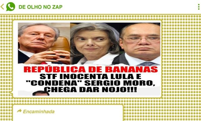 Imagem publicada pelo deputado Capitão Augusto (PL-SP) circulou em grupos bolsonaristas após decisão da Segunda Turma do STF