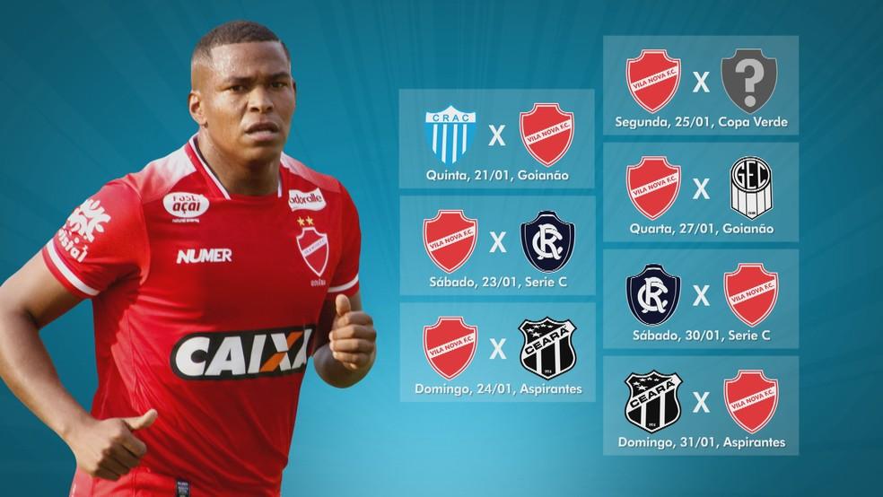 Vila Nova tem agenda cheia nos próximos 11 dias — Foto: TV Anhanguera