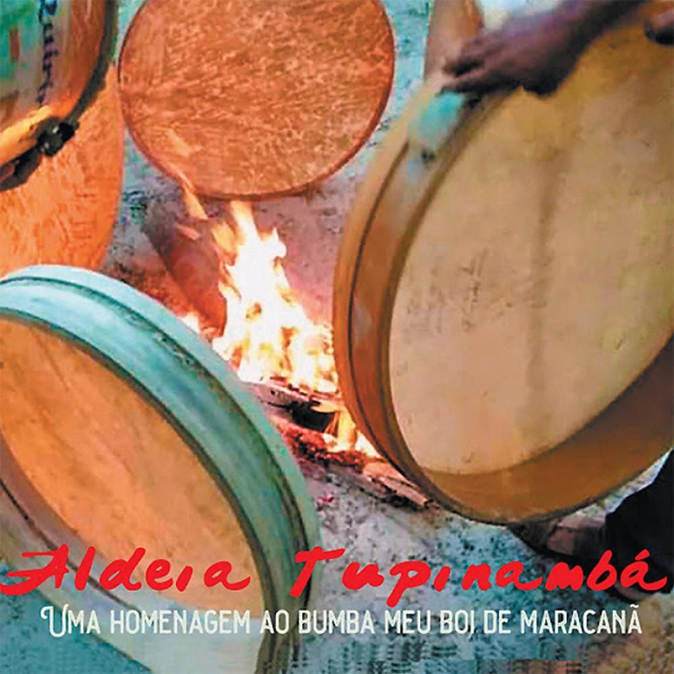 Capa do álbum 'Aldeia Tupinambá - Uma homenagem ao bumba-meu-boi de Maracanã' — Foto: Divulgação
