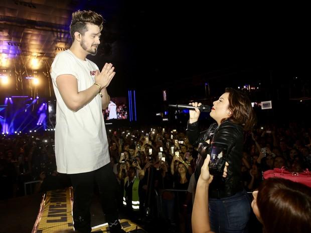 Luan Santana se apresenta em São Paulo (Foto: Manuela Scarpa/Brazil News)