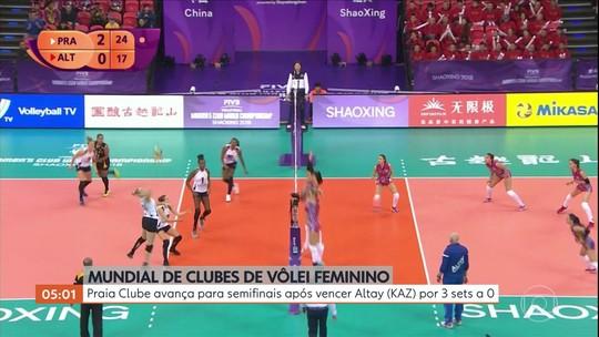 Praia Clube avança para semifinais após vencer Altay por 3 sets a 0