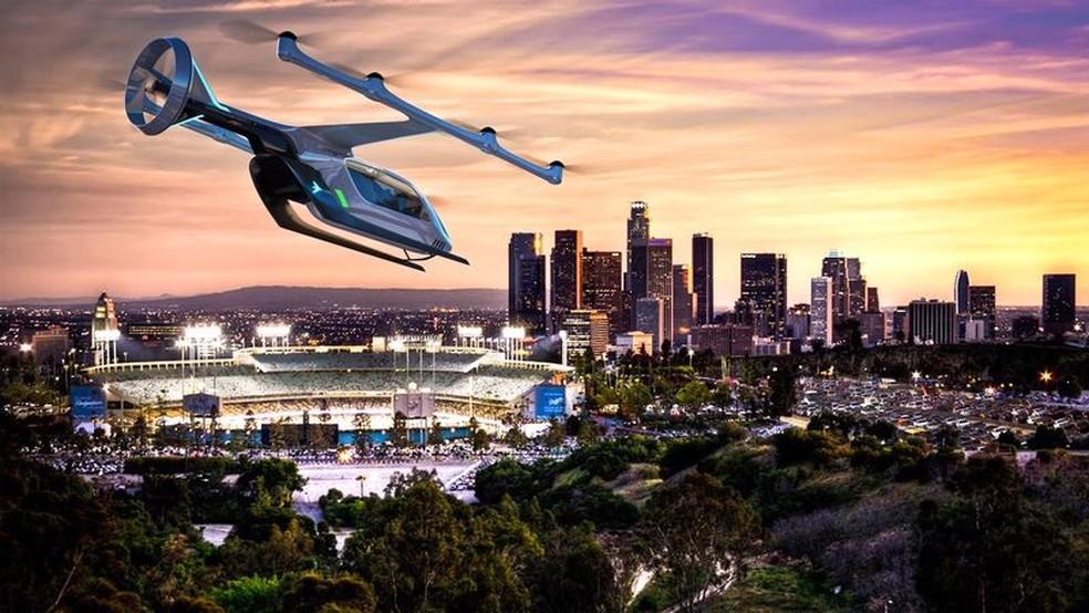 Conceito foi apresentado em evento em Los Angeles (Foto: Embraer/Divulgação)