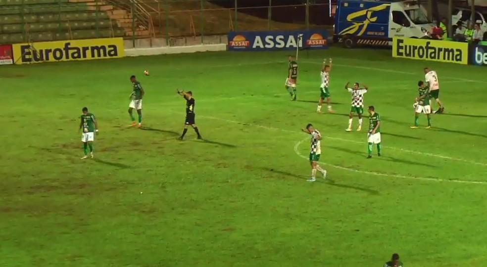 Fluminense comemora vitória sobre a Francana — Foto: FPF TV