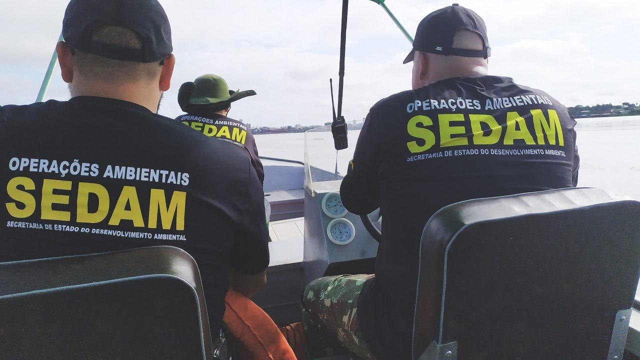 Operação contra garimpo ilegal é feita em trecho do Rio Madeira em Porto Velho