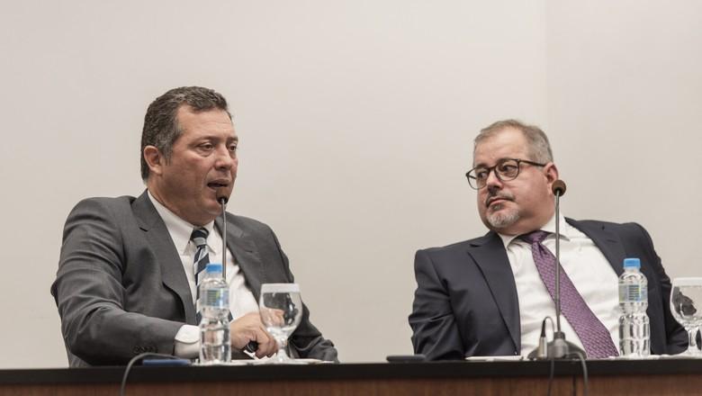 André Pessoa, diretor da Agroconsult, e Mauricio Palma Nogueira, diretor da Athenagro, organizadores do Rally da Pecuária. (Foto: Alécio César/Rally da Pecuária/Divulgação)