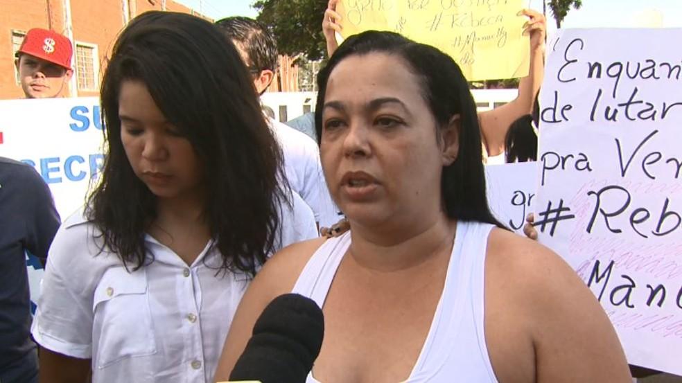 Michele Leite da Cruz.é  mãe do garoto Marcelo de 5 anos que morreu na UPA em Rio Claro,  (Foto: Marlon Tavoni/EPTV)