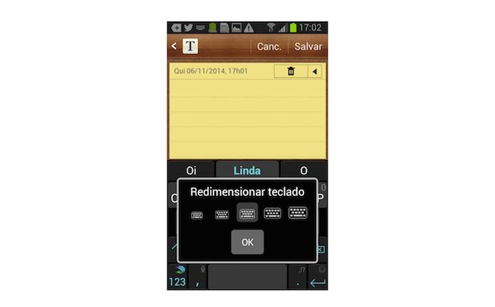 Redefinindo o layout do teclado SwiftKey no Android (Foto: Reprodução/Marvin Costa)