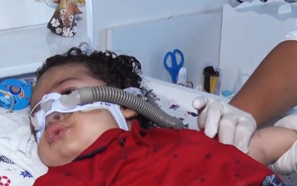 Bebê com atrofia muscular morre no sul da Bahia sem conseguir remédio — Foto: Reprodução/TV Santa Cruz
