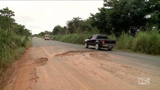 Chuva piora condição de vários trechos de rodovias no Maranhão