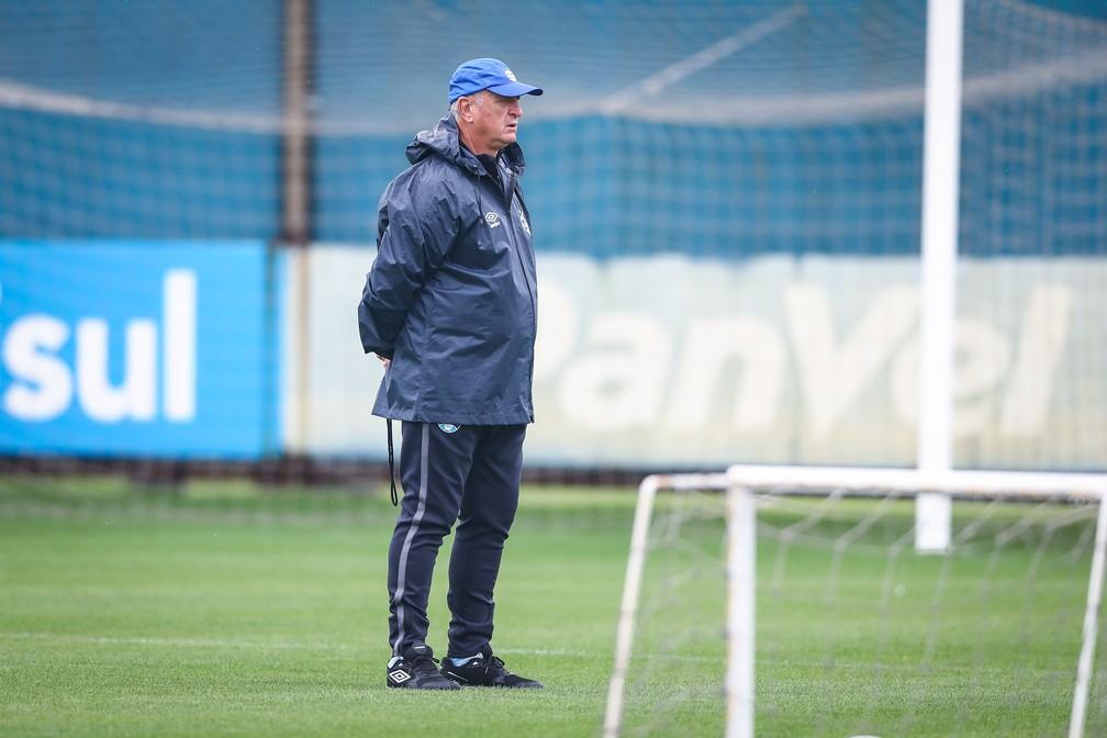 Felipão comanda teino do Grêmio — Foto: Lucas Uebel/DVG/Grêmio