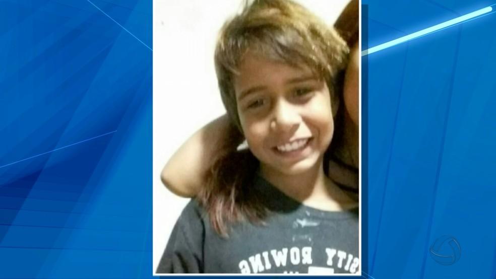 Kauan, de 9 anos, morreu durante estupro (Foto: Reprodução/ TV Morena)