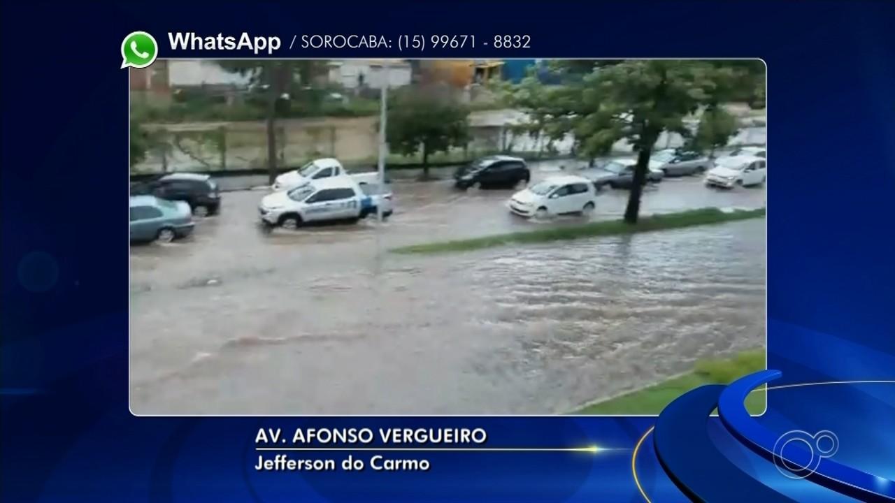 Chuva forte provoca alagamentos nesta sexta-feira em Sorocaba