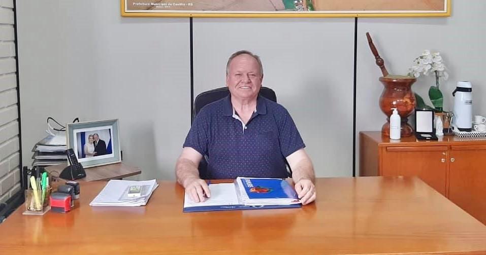 Morre prefeito de Coxilha, Ildo Orth, em decorrência da Covid