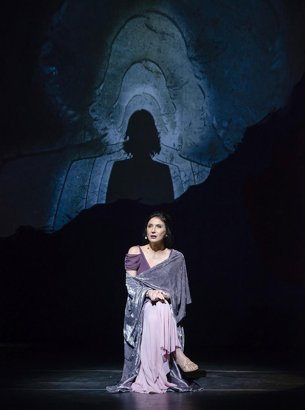 Zizi Possi canta 15 músicas no espetáculo teatral 'À flor da pele' — Foto: Caio Galucci / Divulgação