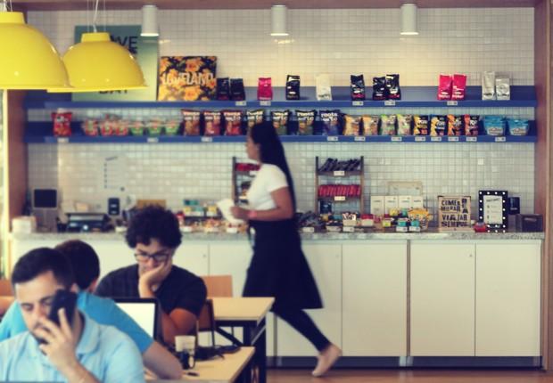 Loja da Suplicy Cafés Especiais em edifício da WeWork (Foto: Divulgação/Suplicy cafés especiais)