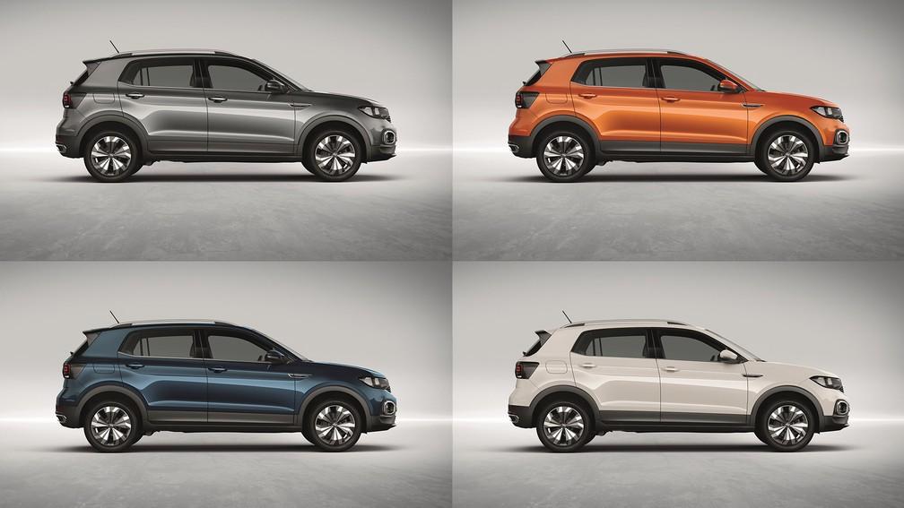 Volkswagen T-Cross terá grande variedade de cores — Foto: Divulgação/Volkswagen