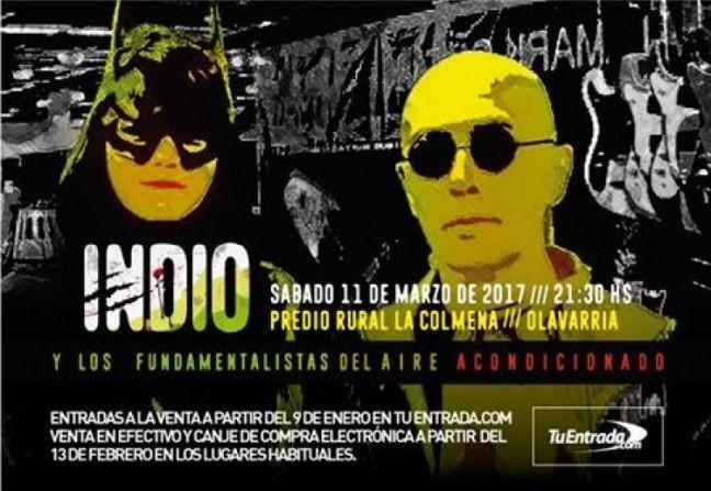 Flyer que anunciava o show onde ocorreu a tragédia (Foto: Divulgação)